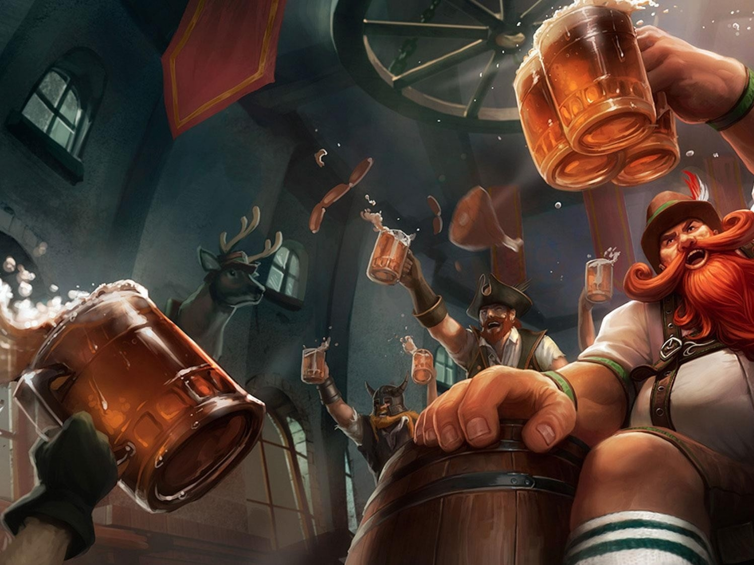 League of Legends Beers Gragas Rabble Rouser HD Desktop Wallpaper