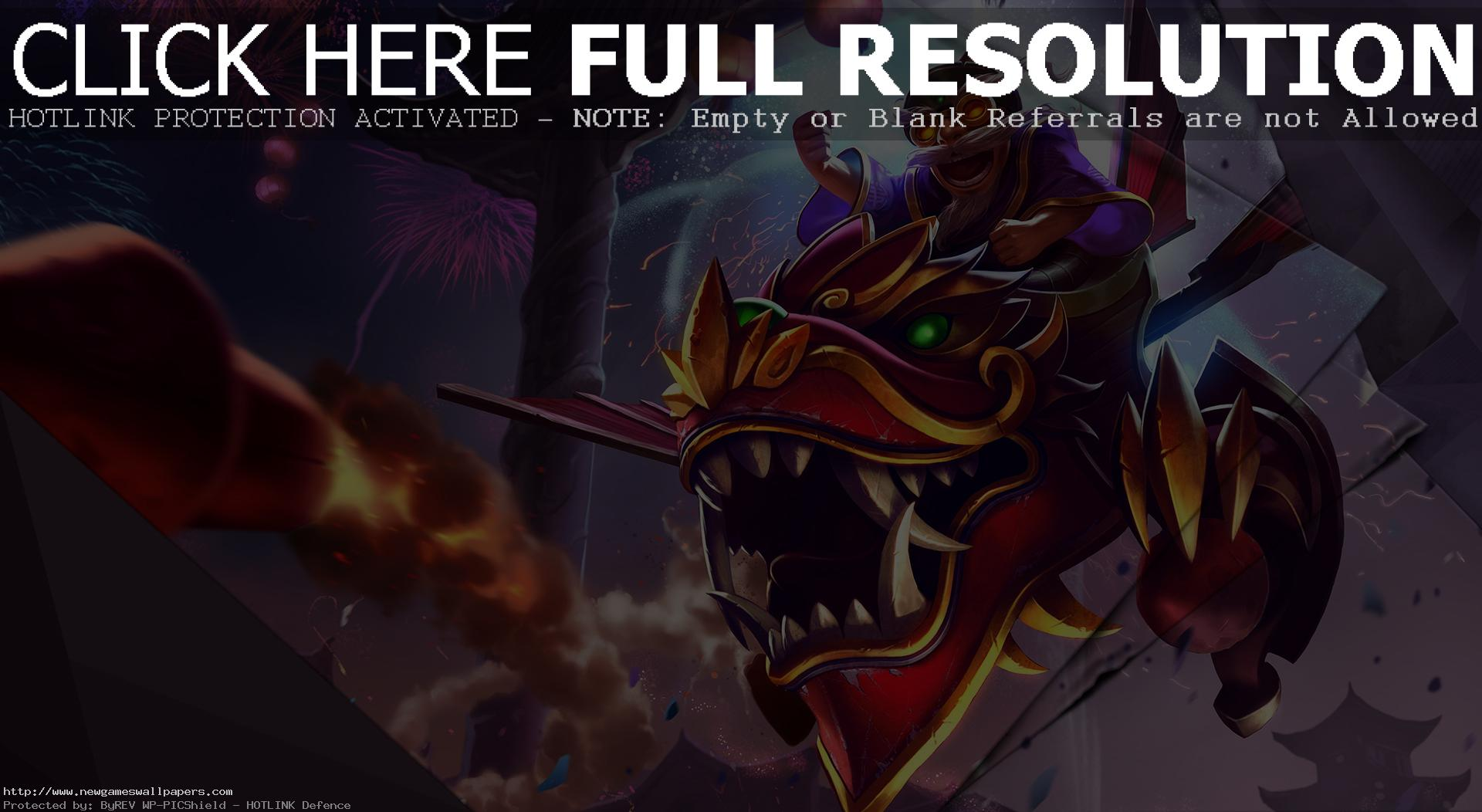 League of Legends Dragonwing Corki Desktop Wallpaper